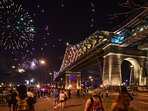 Pont Jacques Cartier taken during the fireworks festival this summer of 2017