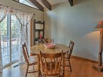 Treat the family to a home-cooked meal at the 4-person dining table.