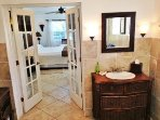 spa quality master bath upstairs.  one of 4 baths