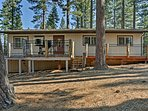The pristine Eldorado National Forest serves as the backdrop to this home!