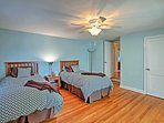 Tuck the kids into the 2 twin-sized beds in the third bedroom.