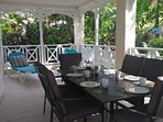 garden room, ideal for dining and lounging, surrounded by garden