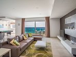 Living Area with Direct Sea Views; LCD TV