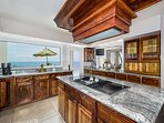 Spacious kitchen overlooking the waters edge