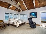 Large Master bedroom with Massage chair