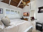 Guest bedroom with TV & A/C for those warm evenings
