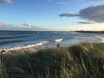 The beach at Alnmouth, paradise!