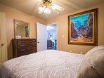 Comfy Queen Bed in the Master Bedroom!