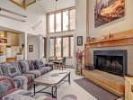 SkyRun Property - '2072 The Pines' - Living Room - The living room has huge floor-to-ceiling windows which let in an...