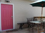 keyless entry, patio table for a breezy place to unwind
