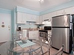 Cook up a tasty meal in the fully equipped kitchen!