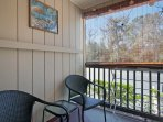 Relish South Carolina's warm weather from the private balcony.
