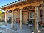 Escape to this rural 1-bedroom, 1-bathroom vacation rental casita in Santa Fe that's nestled on a 3-acre farm!