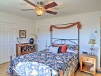 Bring all of the luggage you desire! The well-appointed bedroom has a spacious armoire and walk-in closet for your...