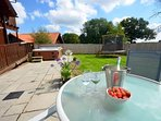 Gather with Friends and Family in the Wrap around Private Back Garden