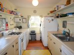 Simple,  well-equipped Kitchen Fresh paint and new appliances
