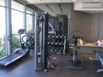 Enjoy your own private gym, comes with a massage table