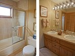 Shared Upstairs vanity and the water closet