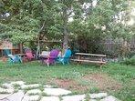 Backyard relaxing, baby and toddler swings.