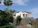 Villa Oceanus with wonderful views out to the sea.