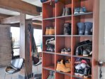 Store your shoes at the on site ski shop so you don't need to do any walking in your ski boots.