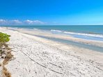 Famous Sanibel beach, just steps away!  Enjoy fishing, shelling, swimming, strolling or just relaxing!