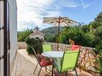 Terrasse - mit Gartensitzgarnitur