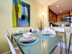 Dining table is a great place for a formal meal