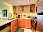 Full kitchen with all the conveniences of home.