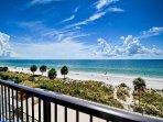 Beautiful beach views from the balcony.