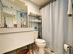 Full bathroom with tub  shower combination