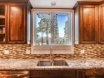 Mount Baldy is straight across the valley, and clean-up's a cinch w/ top of the line appliances!