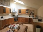 Spacious dining kitchen with all the appliances you need to cook up a feast!