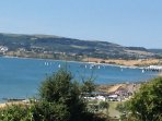 A view from the site across Sandown Bay.