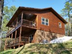 Brand new cabin overlooking the Buffalo National River Park