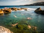 Northern end Rockpool in Coogee, Near Neval