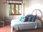 The third Bedroom has beautiful  views of the Ocean, Jungle and Garden