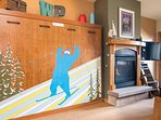 Whimsical by day, Queen murphy bed by night