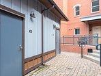 Door entry to private garage