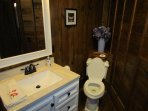 Upstairs bathroom shared by bedroom 2 and 3