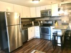 Completely remodeled kitchen with high end cabinets & granite counters