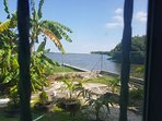View of the Caribbean Sea and garden from Bedroom 1
