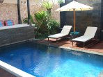 Relax beside your own private pool