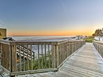 Take a short stroll to the white sandy beaches of North Myrtle Beach!