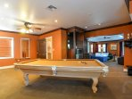Test your skills on the professional pool table!