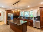 Huge, modern and fully  equipped kitchen