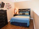 Loft bedroom with flat screen