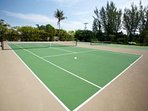 ONLY LIGHTED TENNIS COURTS ON ISLAND.