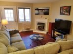 Living Room with fireplace, 50:' LED TV, ac