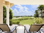Soak up the warm Florida sun while relaxing in loungers